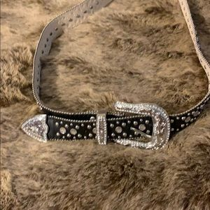 Rhinestone studded belt new size large